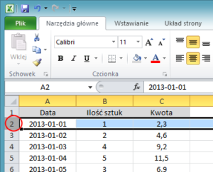 Jak zablokować komórki w Excelu - screen 1