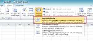 Jak zablokować komórki w Excelu - screen 2