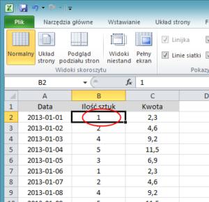 Jak zablokować komórki w Excelu - screen 4